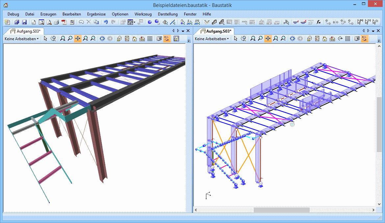 3D Aufgang aus Stahl