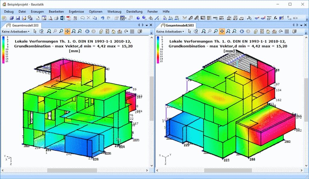 BIM: Statisches 3d Gesamtmodell in der Baustatik