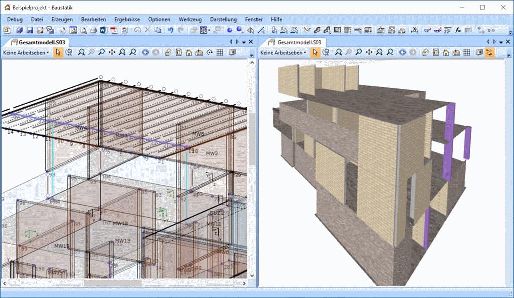 BIM: Visualisierung des 3d Gesamtmodells