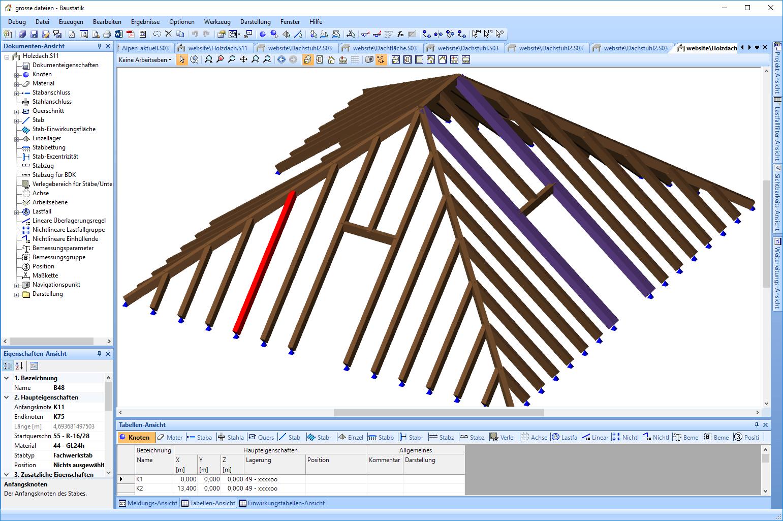 Statik für einen Dachstuhl