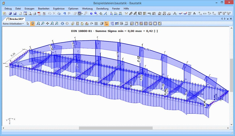 3D-Rahmen: Stahlbau-Brücke