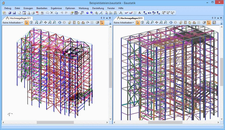 3D-Rahmen: Hochregallager