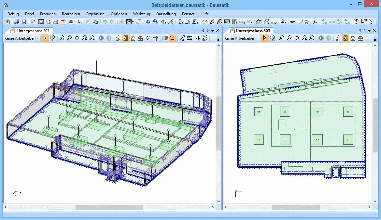 Baustatik: untergeschoss